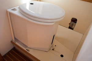 C-Head Composting Toilet installed in Czardas' head compartment.